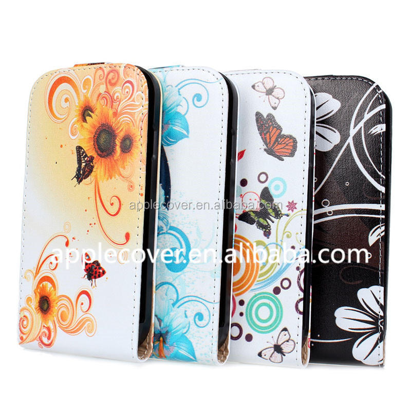 Low price flower flip cell phone cover case for samsung galaxy s4, for samsung s4 case