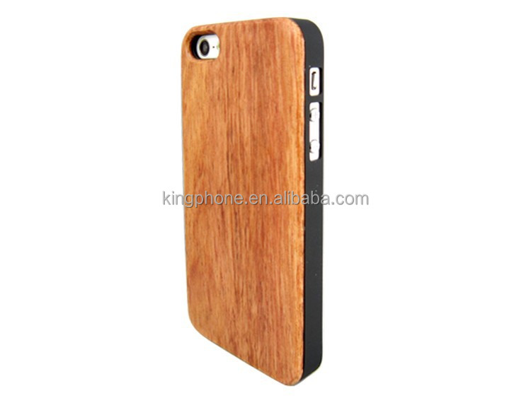 ultra thin pc bottom wood case for iphone 5 ,for iphone5 sapele wooden mobile phone cover case