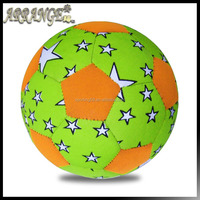 neoprene fabric laminated Officia size 5 SBR material ACFB0044P5200 Green color beach football soccer