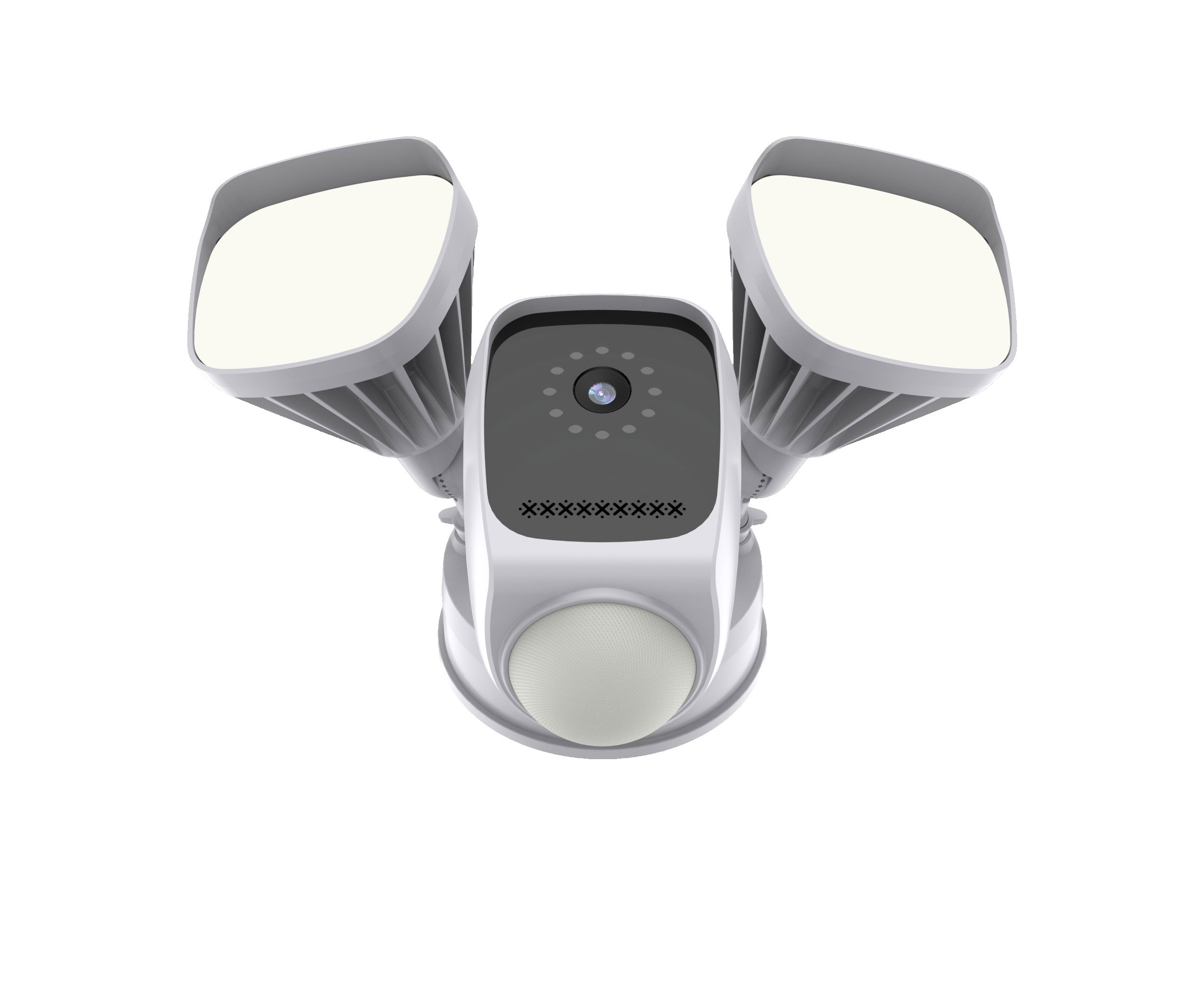 Floodlight <strong>Security</strong> WiFi Camera Motion-Activated with Alarm Push and Cloud Service, for Home <strong>Security</strong> Outdoor Use,White