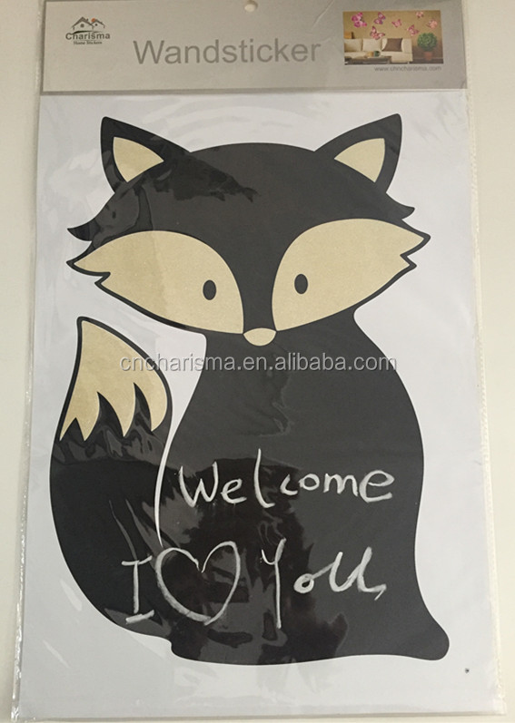 Fox Design Chalkboard sticker kids blackboard wall sticker