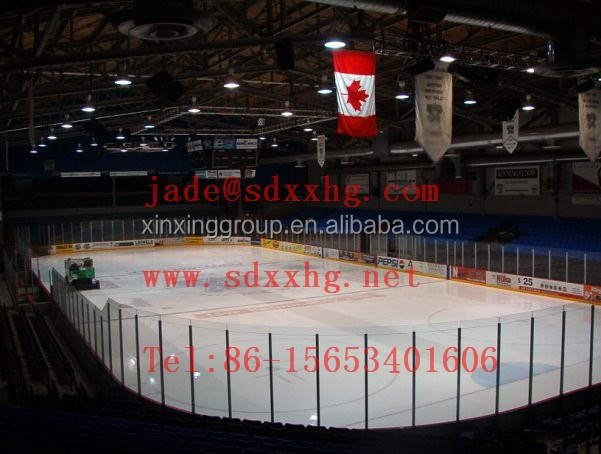 UHMWPE hockey ice rink floor/ skating plastic boards/synthetic ice rink for roller skating