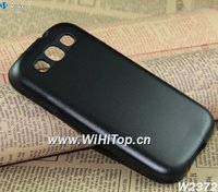Black Color Luxury Design Aluminum+Silicone Hybrid Hard Case for Samsung Galaxy S3 i9300 Brand New