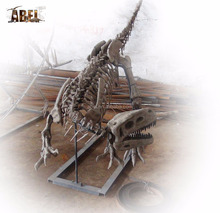 ABELL0056 life size golden 6m pterosaur dinosaur skeleton model