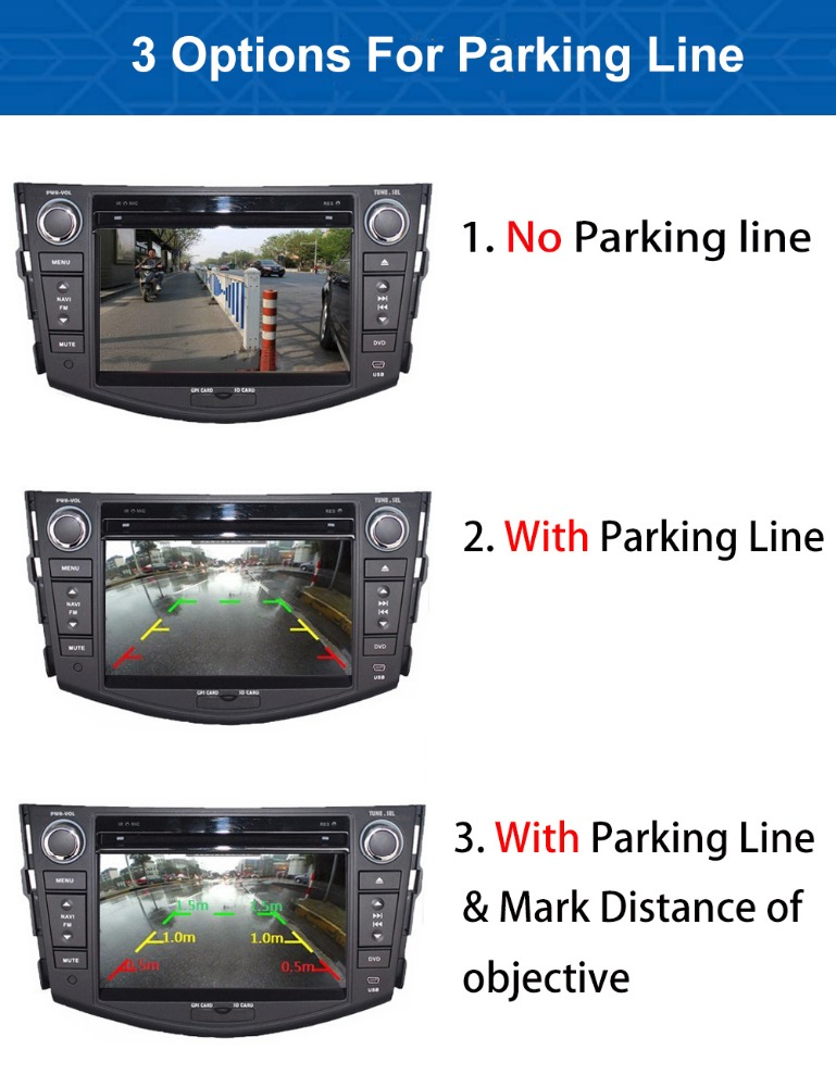 Measure object distance Intelligent Car Front camera and rear camera