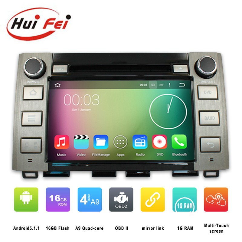 "Dashboard Placement and 8"" Screen Size android 5.1.1 2 din auto radio car dvd gps for Toyota Tundra 2014"