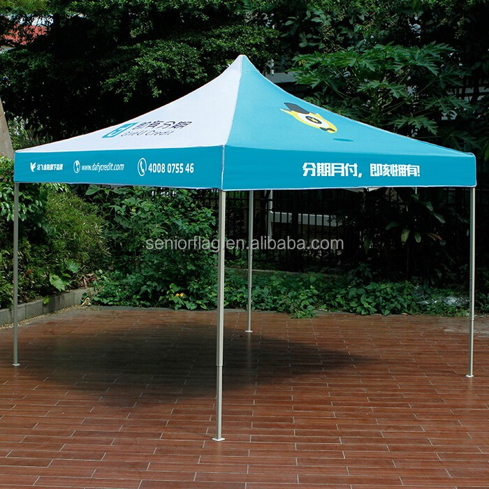 Cheap outdoor waterproof custom logo printed pop up event tent 12x12 canopy