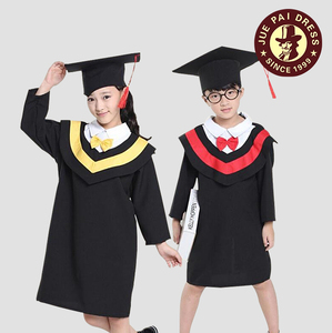 Custom kids preschool graduation gowns / nice boys wearing girls school uniform for kindergarten