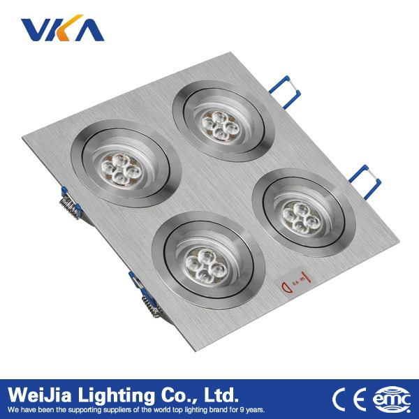 high pure aluminum material 16w 24w cheap led ceiling light