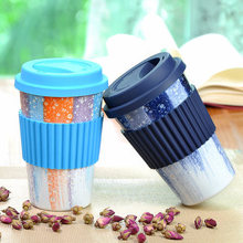 New Design Silicone Coffee Cup With Cover/Silicone Reusable Coffee Cup