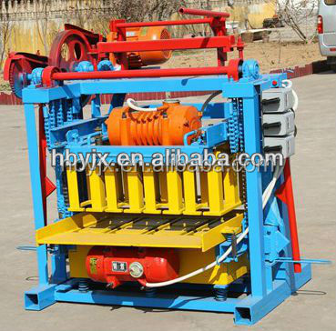 construction equipment qmj4-40 manual brick hollow block making machine price list in nigeria