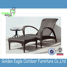 adjustable back chair bench chair sun lounger with footrest