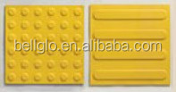 Tactile rubber tile