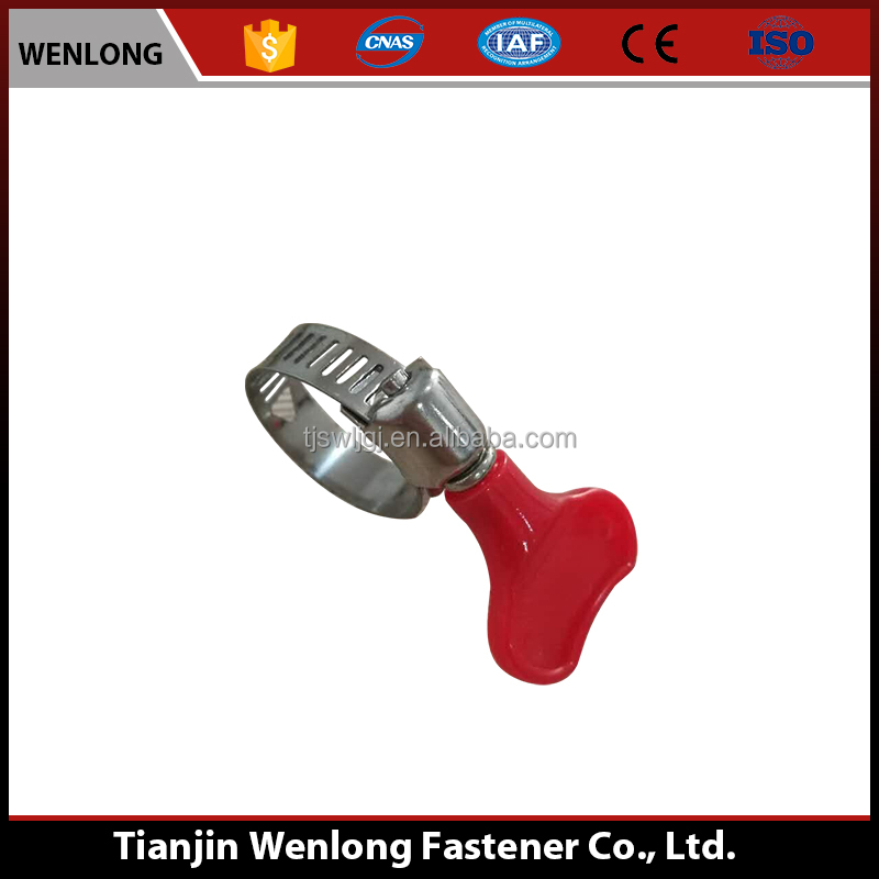 Tianjin China factory American type hose clamp Handle hose clamp