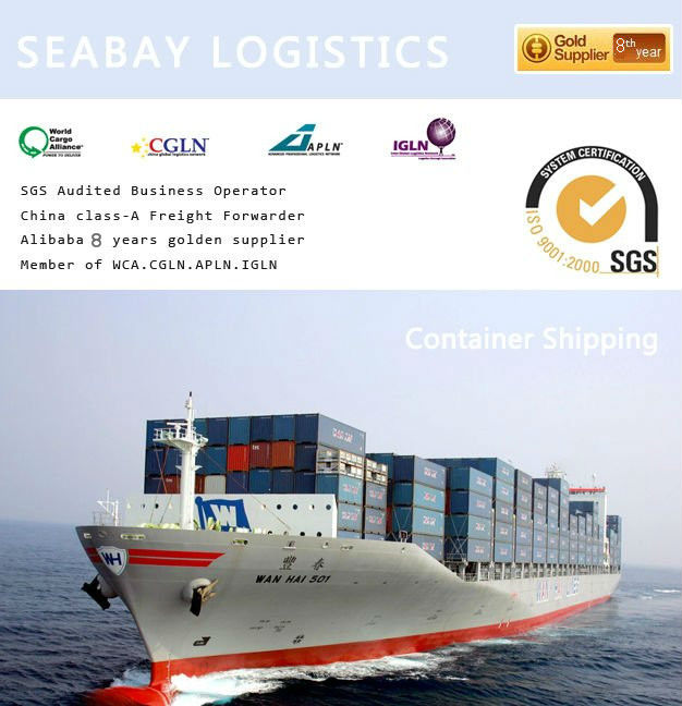 Quick professional container sea freight to kolkata