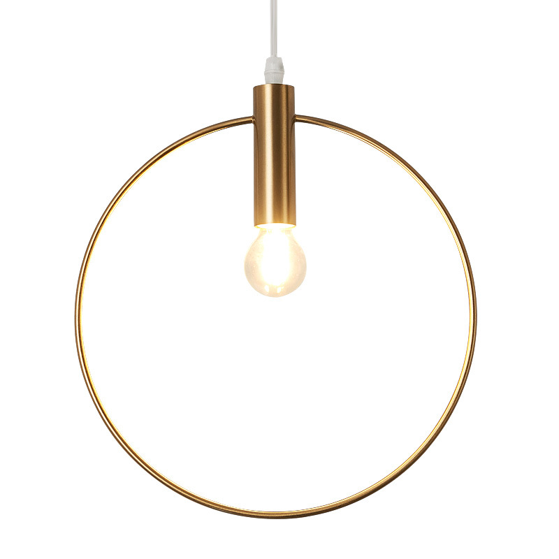 Modern Indoor Lamps Nordic Designer Gold Iron Pendant Hanging <strong>Light</strong>