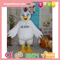Carton custom wholesale turkey mascot costume in stock for party