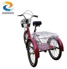 Three wheeler steel frame adult pedal cargo bike