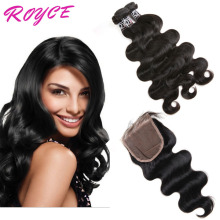 Factory Direct Sale Virgin Human Hair Unprocessed Peruvian Body Wave Peruvian Hair Extentions with Closure
