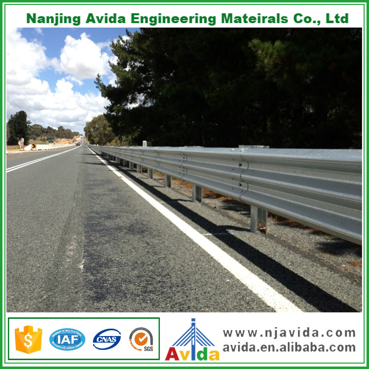 Highway Galvanized Metal Beam Guard Fence