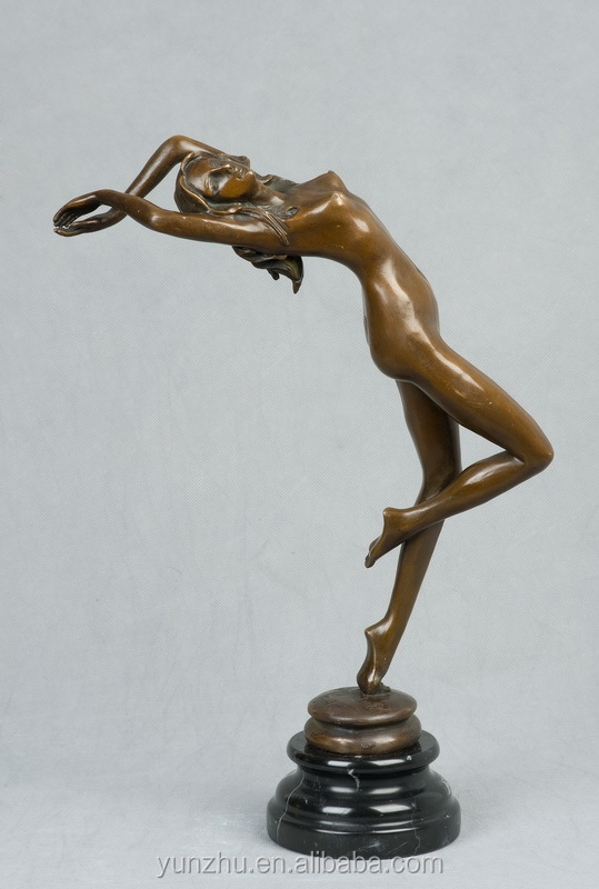 Bronze Sculpture Nude Woman and Naked Lady