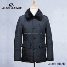 Fur mink luxury collar warmth Senior cotton coat down jacket Winter leisure business men jackets