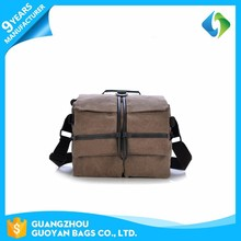 Multipurpose simple leisure video canvas camera bag with high quality