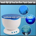 Romantic Night Light Ocean Daren Waves Projector Speaker Lamp, YGA425A