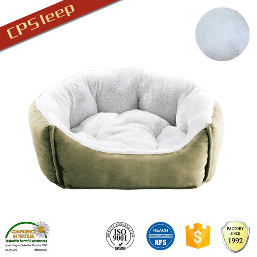 Custom Warm Polyester Fiber OEM luxury dog beds for large dogs