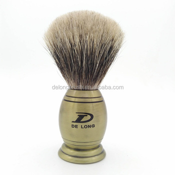 Pure Badger Shaving Brush with Luxury Metal Handle