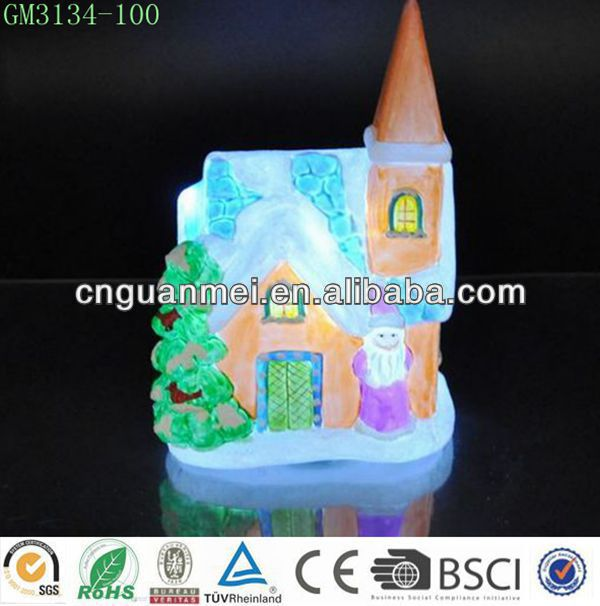 new product / Christmas colorful house with led light