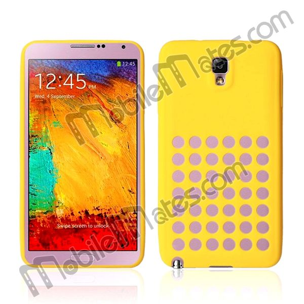 Flexible Hollow Out Hole Design Soft Silicone Case For Samsung Galaxy Note 3 N9000 N9002 N9005
