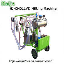 human milking machine,Vacuum Pump Double Bucket Milking Machine with Foodlight