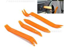 orange 4pcs/set Universal Auto Car Radio Panel Door Clip Repair Tool, Portable Panel Trim Dash Audio Removal Installer Pry Tool