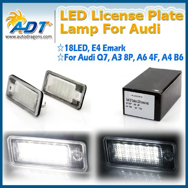 Led tail light, Number Plate Lamp For Audi Q7 TDI A3 8P A6 4F A4 B6