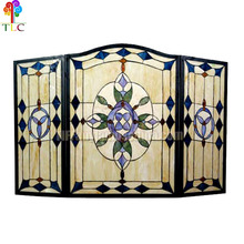 F-10 stained glass fireplace tiffany panel tiffany mosaic tiles wholesale tiffany lamp