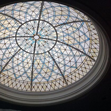 decorative glass stained and leaded glass dome