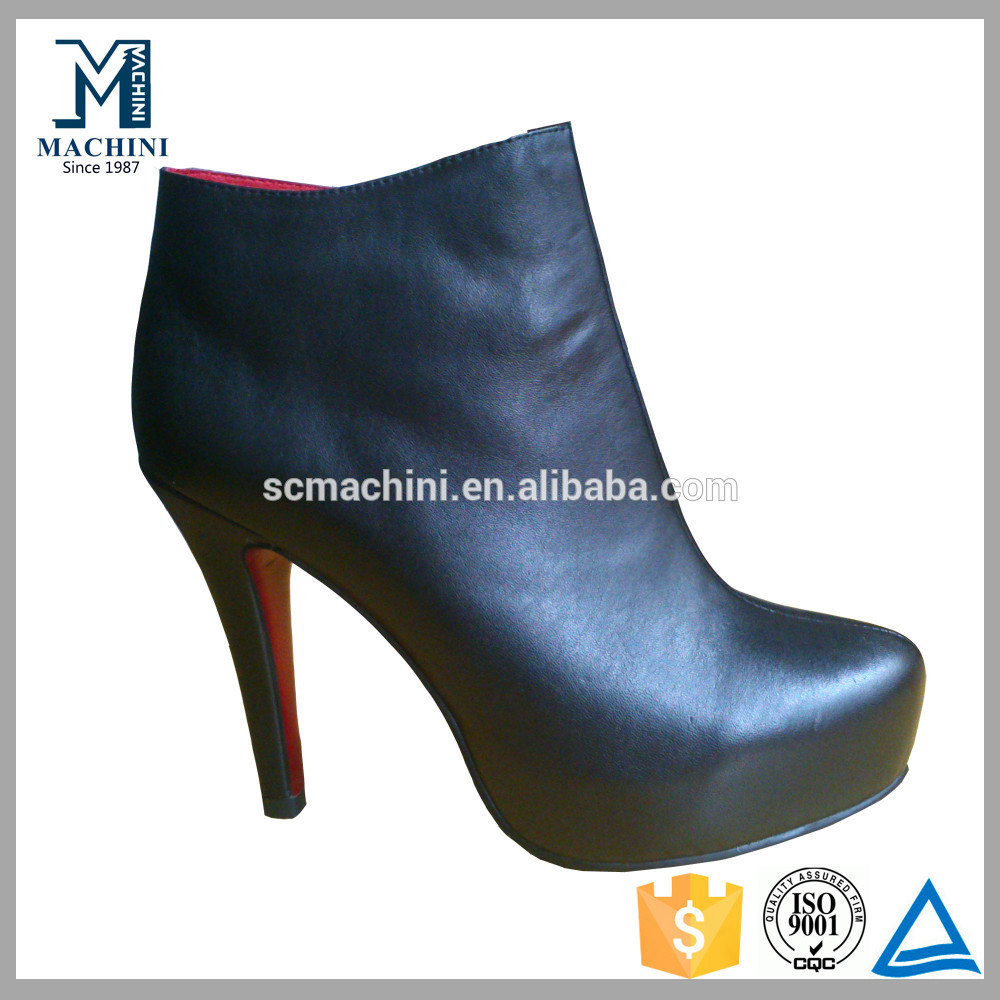Elegant women black boots high heeled boots sexy stiletto boots