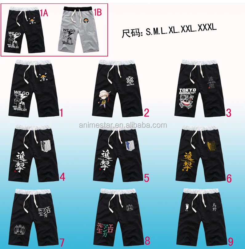 Japanese Cosplay 8 Styles Tokyo Ghoul Pants 2 Colors Top Quality Cotton Anime Short Pants