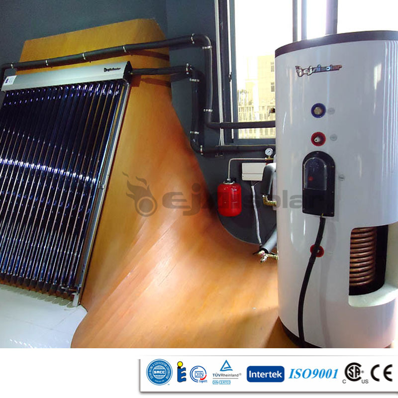 EN12975 CE CSA SRCC certified portable high pressure separated green energy solar water heater with high effeciency
