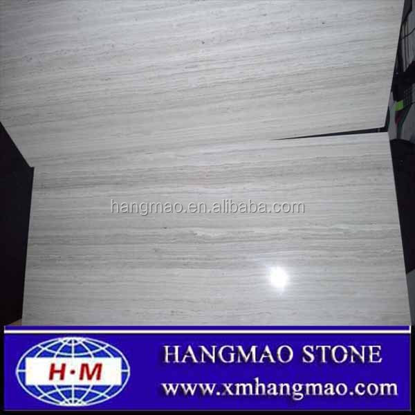 Chinese popular white wooden vein marble