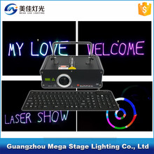 laser show system 400/500mW rgb typewriting laser light