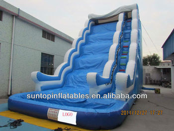 hot sales big inflatable slide,pool slide,wave slide with cheap price