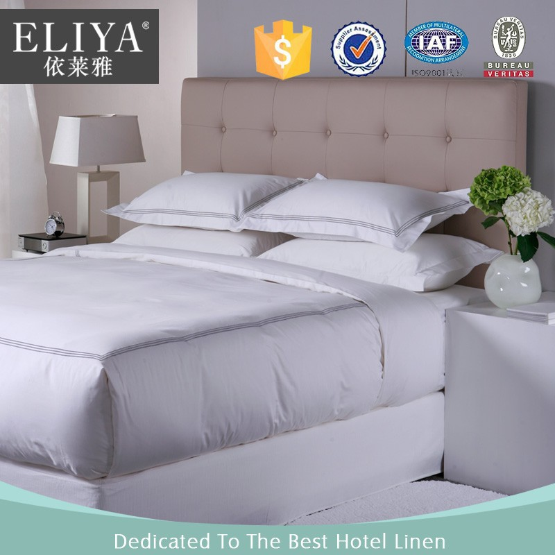 ELIYA Linen Professional Hotel Supplies 100% Cotton Bed Sheets Luxury Bedding Sheet Set