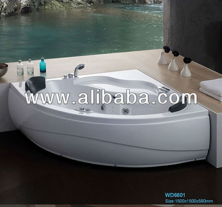 Acrylic massage bathtub use for corner