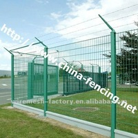 Hebei Hight Strength galvanized Half Y Type Post Fence/PVC coated half Y Type post double wire fence