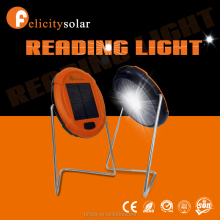 convenient solar reading light with a little panel in one