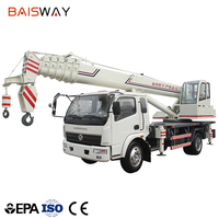 2018 hot sale 12T white truck mounted crane for sale