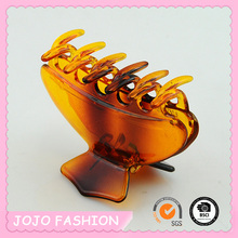 New fashion transparent brown ABS plastic classical hair claw