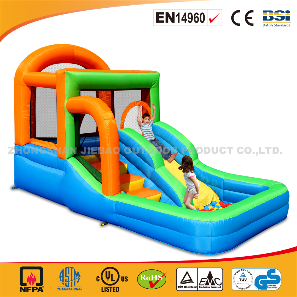 Hot Sale Funny Inflatable Slide Bouncer/4 in 1 Commercial Use Jumping Castle With Slide/Funny Slide Bouncer With Balls For Kids